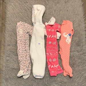Baby girl carter sleepers size 6 months